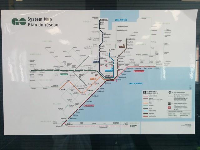 GO System Map #ontario #niagarafalls #niagara #gta #southernontario #gotransit #map