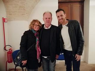 Il comico con Francesca Valentino e Stefano Capozzo