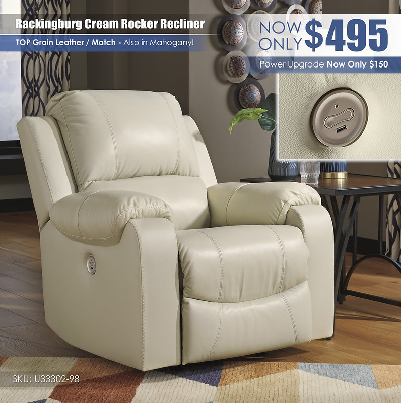 Rackingburg Cream Recliner_U33302-98