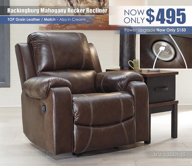 Rackingburg Mahogany Recliner_U33301-25