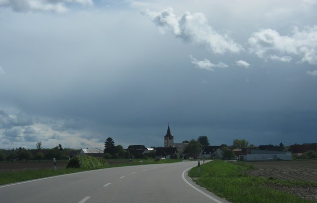 dark clouds over