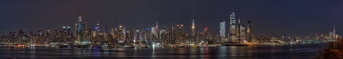 panoramic view from weehawken of New York Skyline at night | by stefg1971