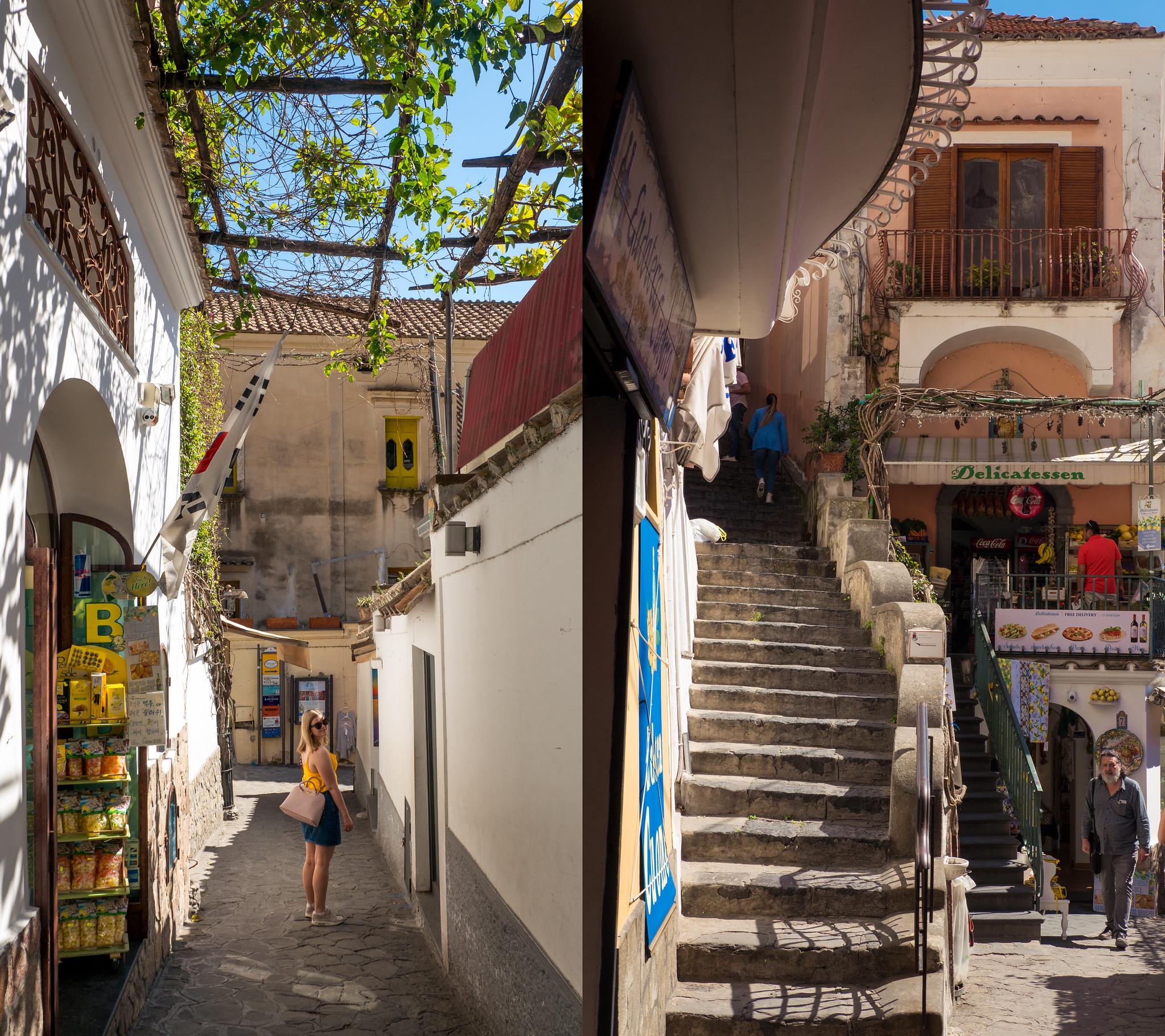 Positano streets