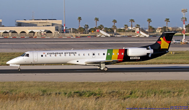 N812HK LMML 28-04-2019 Zimbabwe Airways Embraer ERJ-145LR CN 145373