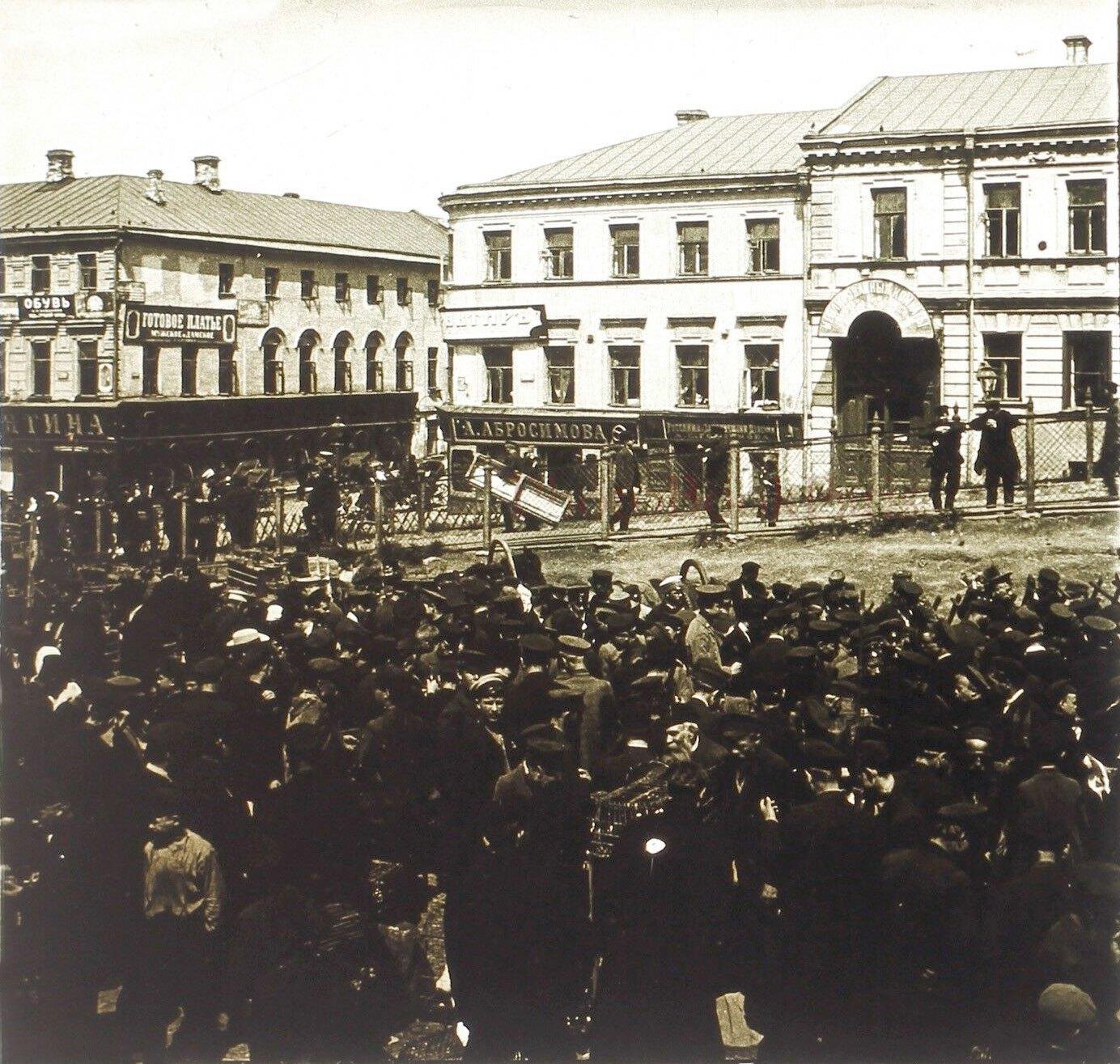 Рождественский бульвар. Птичий рынок. 1910-е