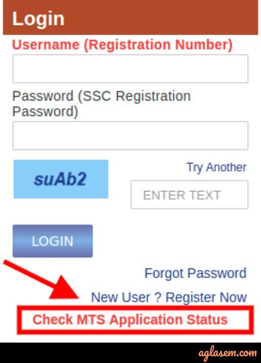 ssc mts application status