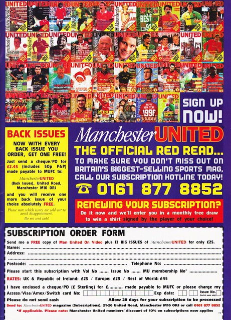 Manchester United - Official Magazine - February 1996 - Page 55