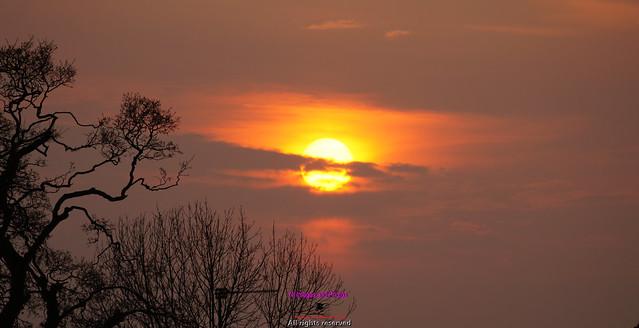 Sunset over Banbridge
