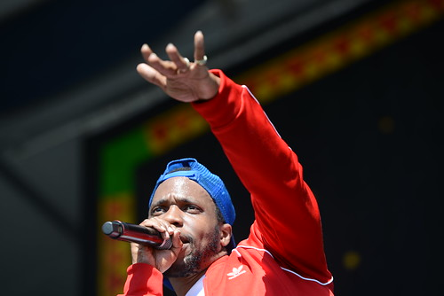 Curren$y at Jazz Fest 2019. Photo by Leon Morris.