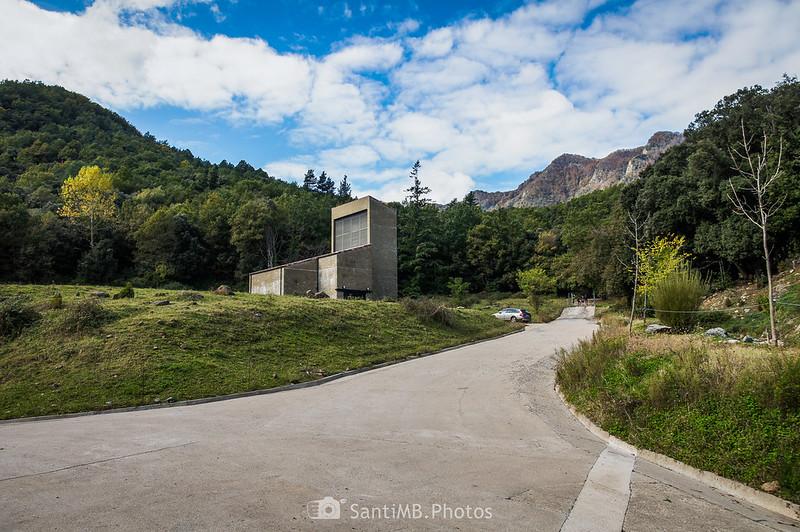 Instalaciones del túnel de Bracons cerca de Sant Mateu de Joanetes