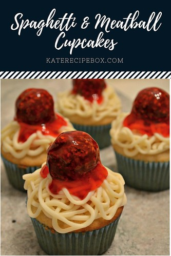 Spaghetti and Meatball Cupcakes | by katesrecipebox