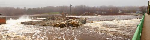androscoggin river brunswick maine bridge frankjwood hydroelectric dam fog