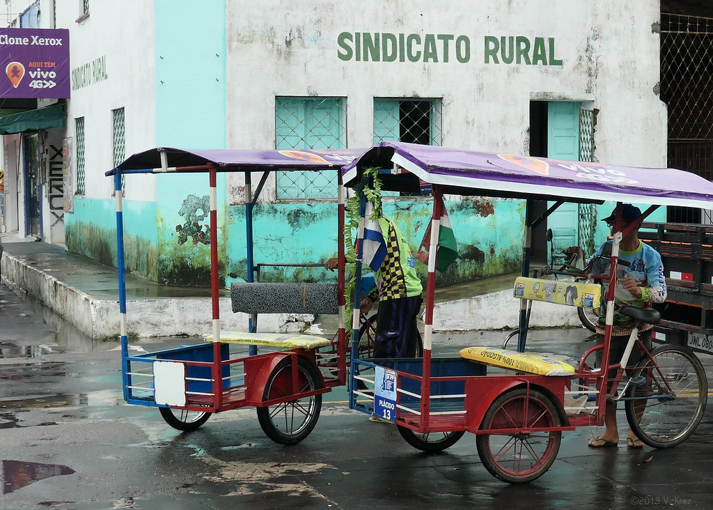 Local Transportation in Parintins, Brazil.  Once the Cruise Ship Leaves, They Go Home