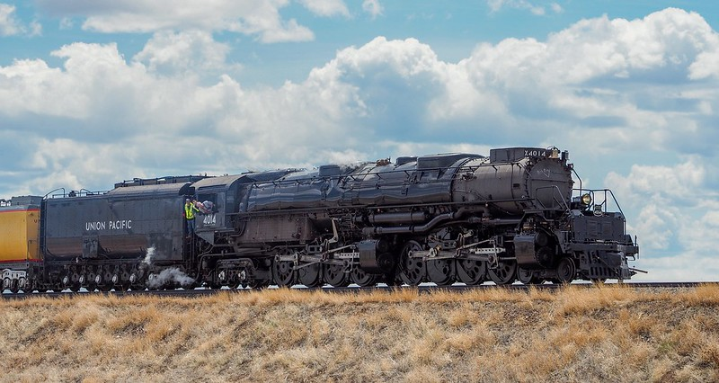 Big Boy #UP4014 steam engine running between Cheyenne and Laramie