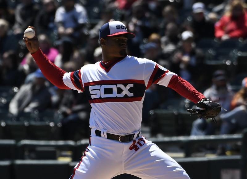 Reynaldo Lopez帶領白襪投手群追平大聯盟單場最多三振紀錄。(達志影像)