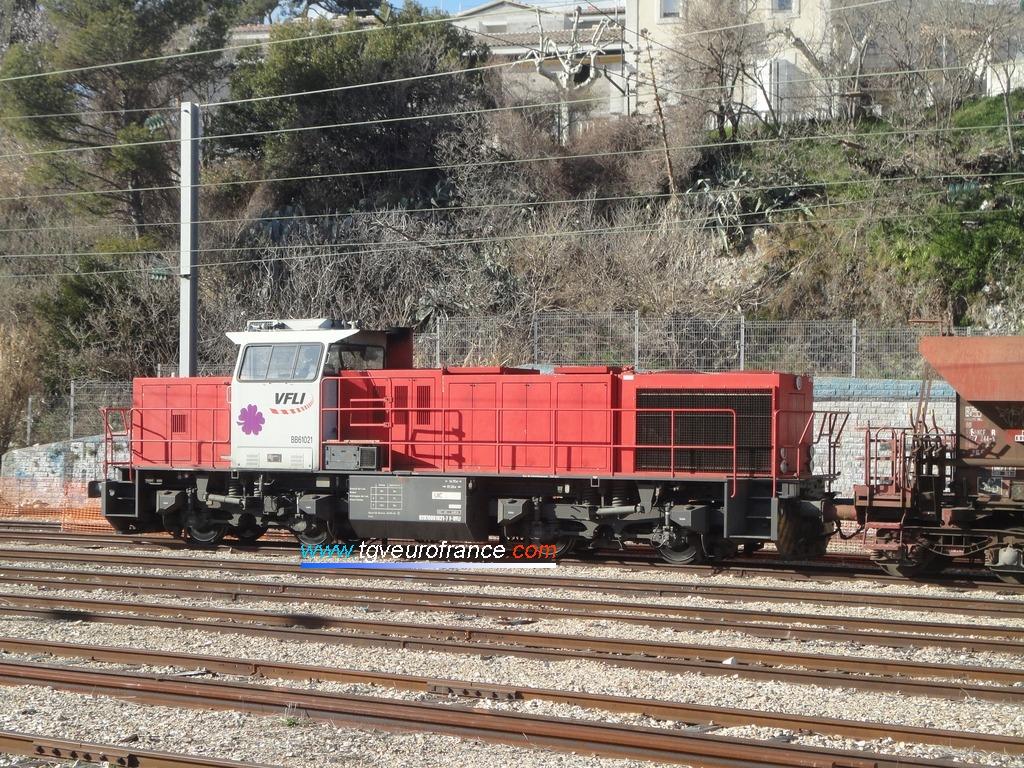 La locomotive thermique BB 61021 VFLI G 1206 (série BB 61000)