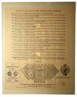 Back 1938 Oberwise Mercury dime board