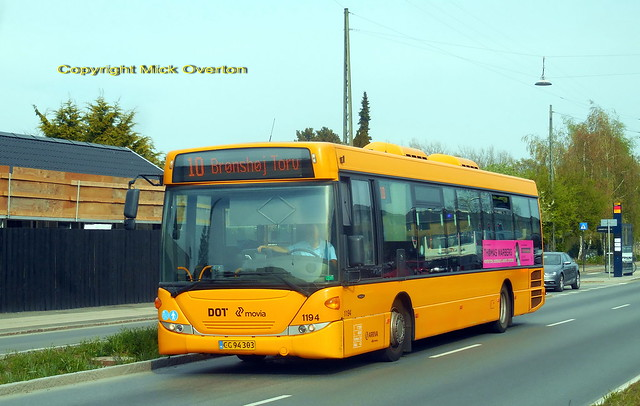 2012 Scania Omnilink Arriva 1194 covers for defective Volvo on route 10