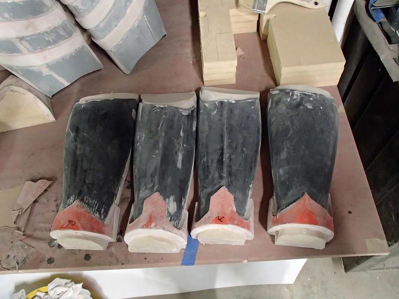 Shin and Calf Forms in Progress