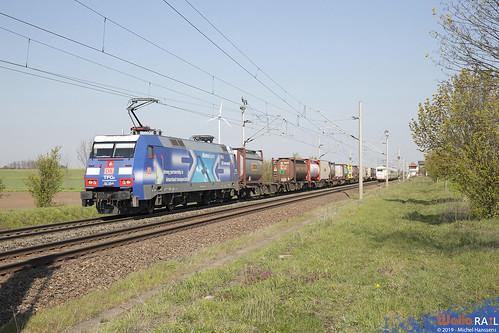 152 135 . DB Cargo . Sachsendorf ( bei Calbe ) . 18.04.19.