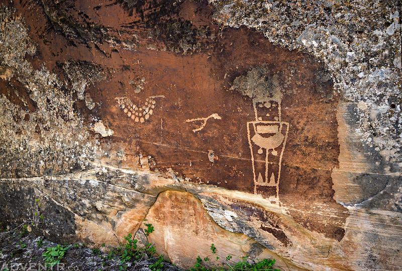 Hidden Petroglyph Panel