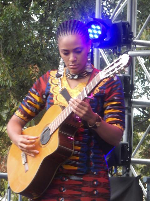 Sona Jobarteh on Guitar