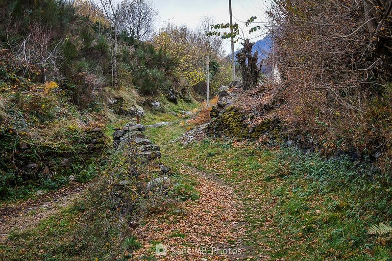 Llegando a Bausen por el Camin de Carlac