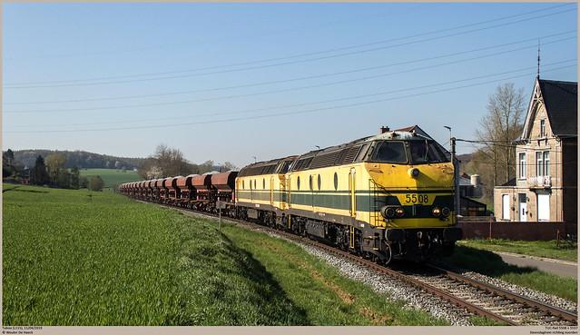 TUC-Rail 5508 + 5537 @ Tubize