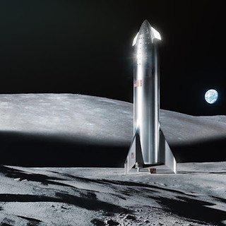 Elon Musk starships on Mars and Moon