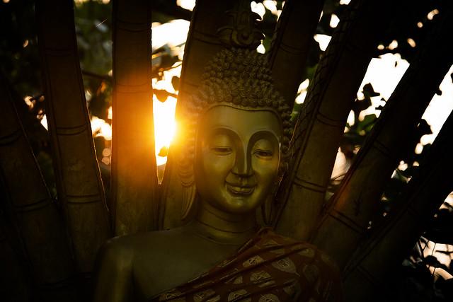 A Buddha At Wat Visounnalat Temple, Luang Prabang