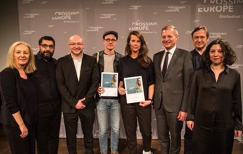 CE19 - Award Ceremony // Christine Dollhofer, Mahmut Fazıl Coşkun, Almir Balihodzic (Councilman), Special Mention - Fiction Film (Claus Reichel, Rosanne Pel), Thomas Stelzer, Jean Perret, Ana Lungu // photo © Christoph Thorwartl / subtext.at
