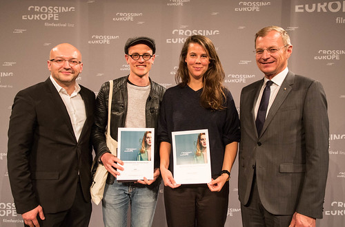 CE19 - Award Ceremony // Almir Balihodzic (Councilman), Special Mention - Fiction Film (Claus Reichel, Rosanne Pel), Thomas Stelzer (Governor) // photo © Christoph Thorwartl / subtext.at