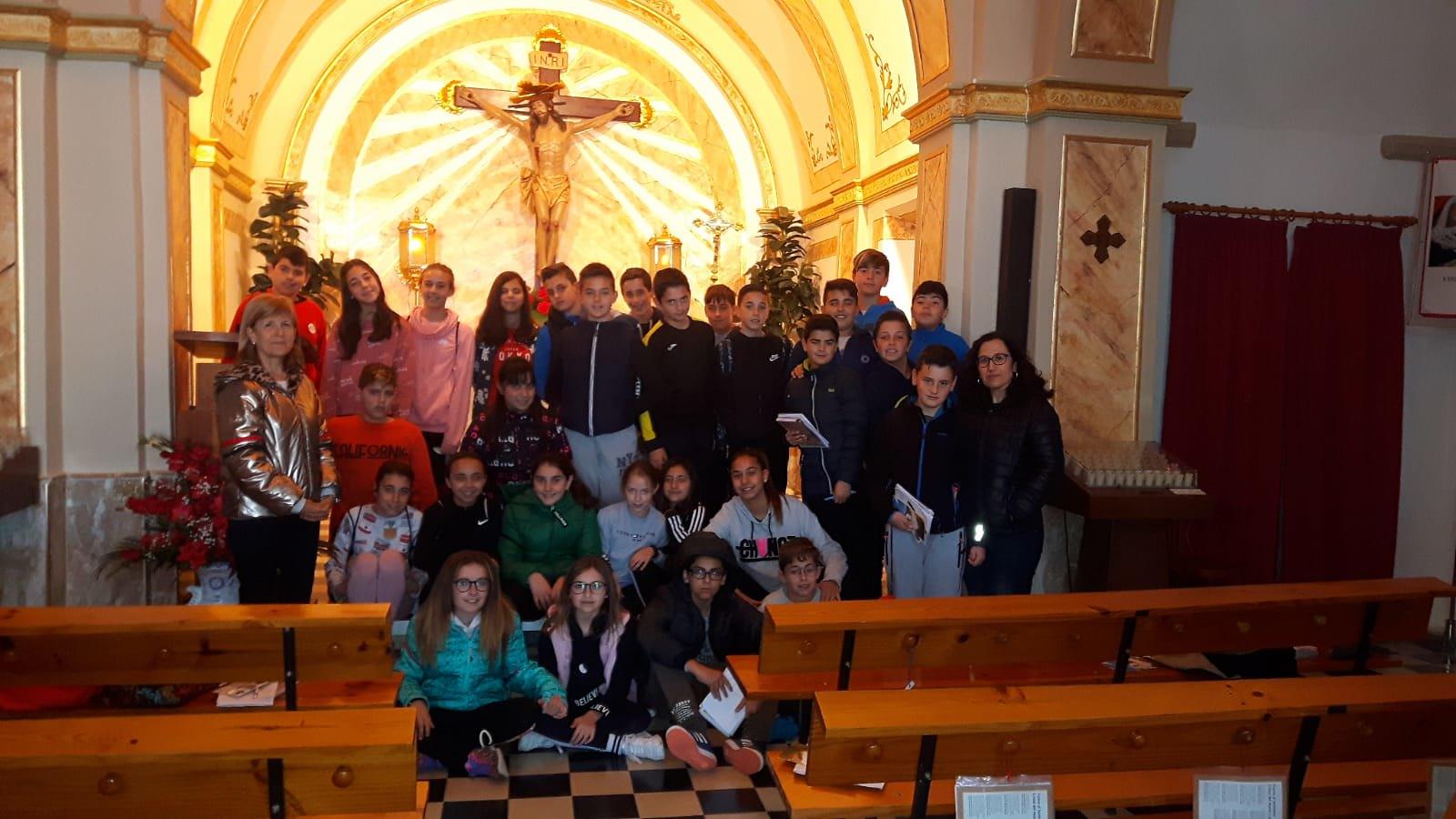 (2019-04-11) Visita ermita alumnos Pilar - 6 primaria -  9 de Octubre - María Isabel Berenguer (11)