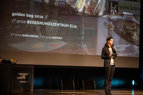 CE19 - Award Ceremony // Moderator Karin Schmid // photo © Christoph Thorwartl / subtext.at