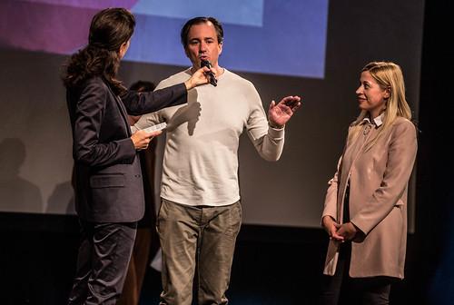 CE19 - Award Ceremony // Moderator Karin Schmid, Patrick Bartos (Creative Region Linz & Upper Austria), Doris Lang-Mayerhofer (City Counselor) // photo © Christoph Thorwartl / subtext.at