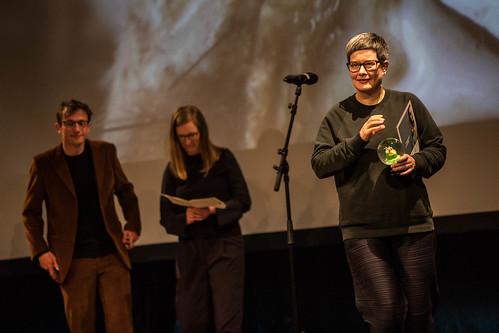 CE19 - Award Ceremony // Jury - Local Artist (Katharina Weinberger-Lootsma, Sebastian Markt), Isabella Reicher (sixpack Film) // photo © Christoph Thorwartl / subtext.at