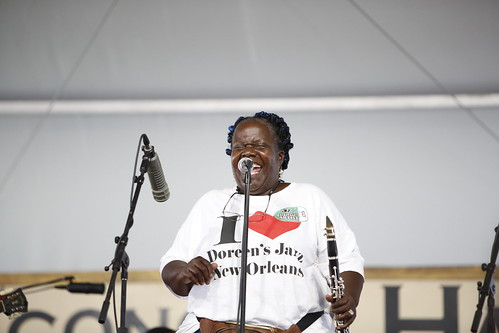 Doreen's Jazz New Orleans at Jazz Fest 2019. Photo by Michele Goldfarb.