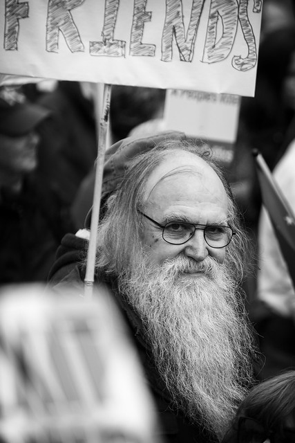 Man at anti-Brexit march