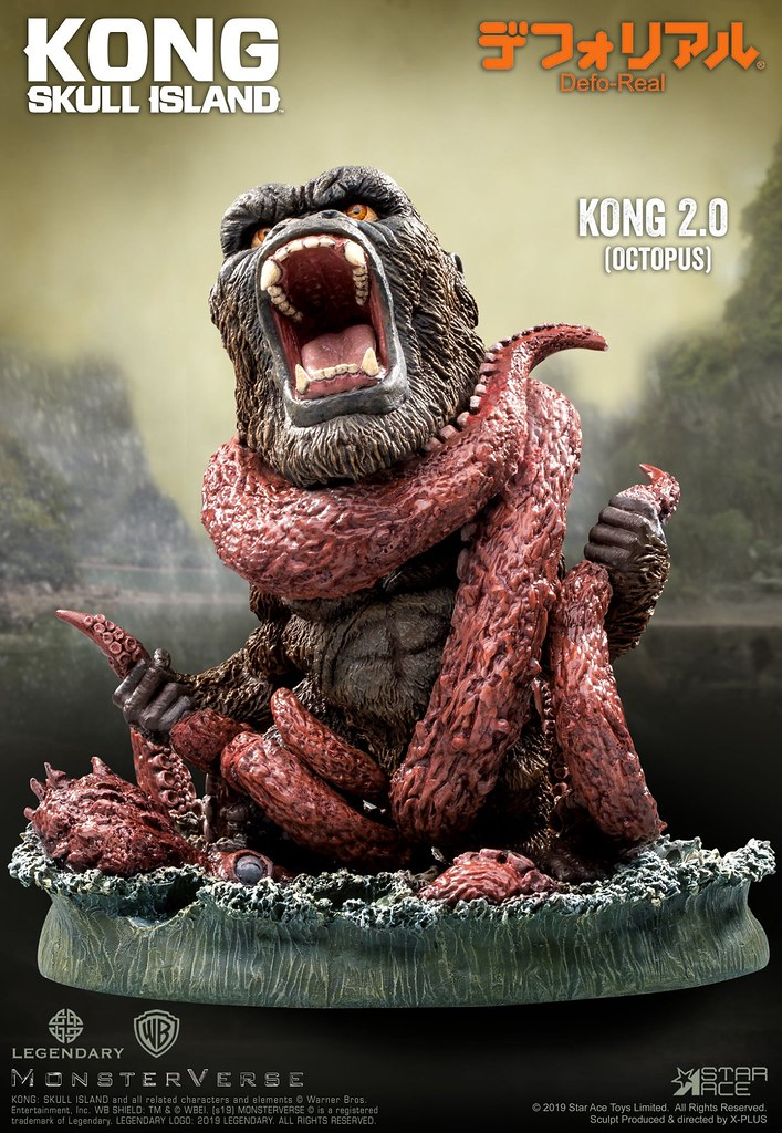 熱烈的綑綁Play 完全再現!! Star Ace Toys Defo-Real 系列《金剛:骷髏島》金剛 Vs. 巨大章魚 (金剛 2.0) Kong Vs. Giant Octopus (Kong 2.0)