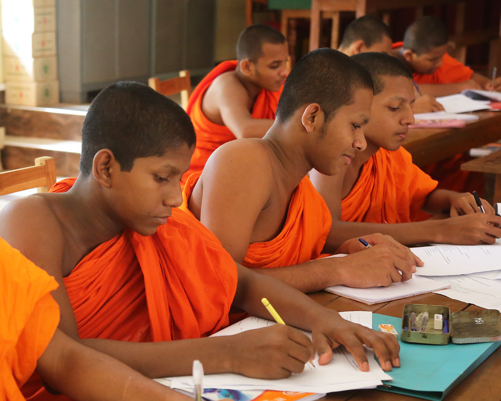 Magnificent Novice Monks 1X7A4874B Novice Monks Studying At Asgiriya Interior Design Ideas Ghosoteloinfo