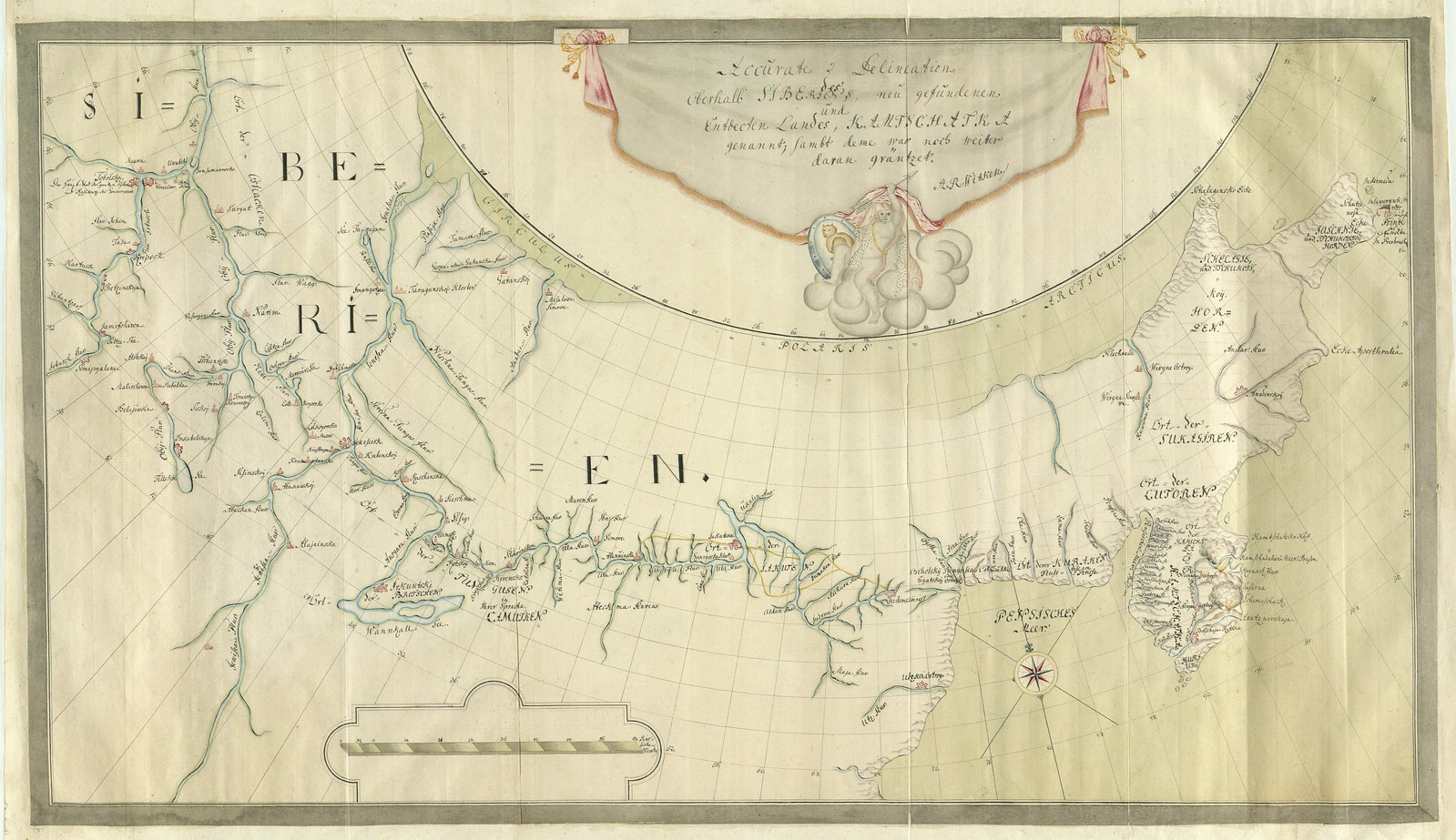 1740. Точное разграничение вновь обнаруженной страны в Сибири под названием Камчатка