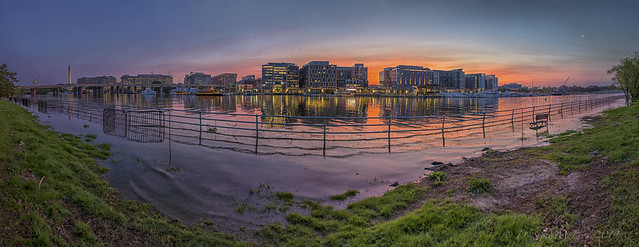 District Wharf Along the Washington Channel