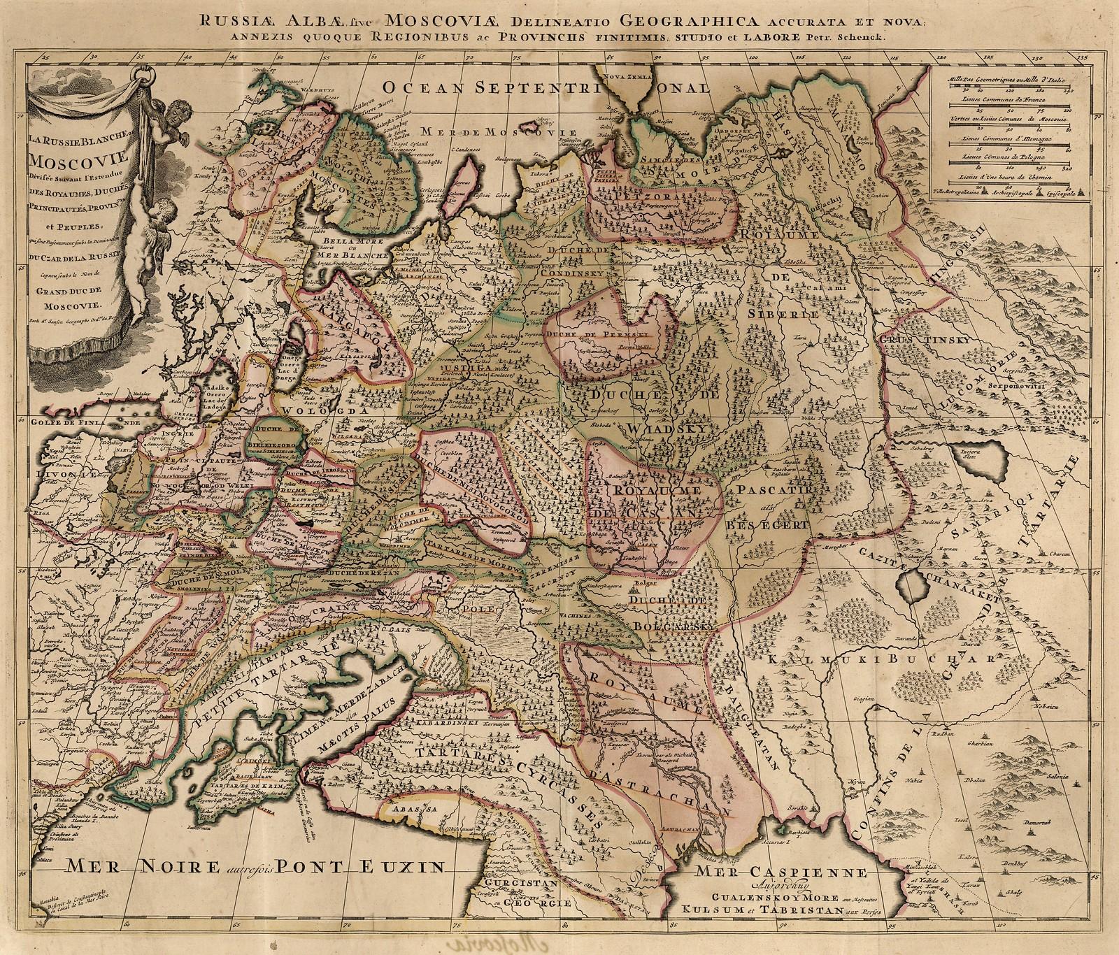 1680-1720.  Белая Русь или Московия