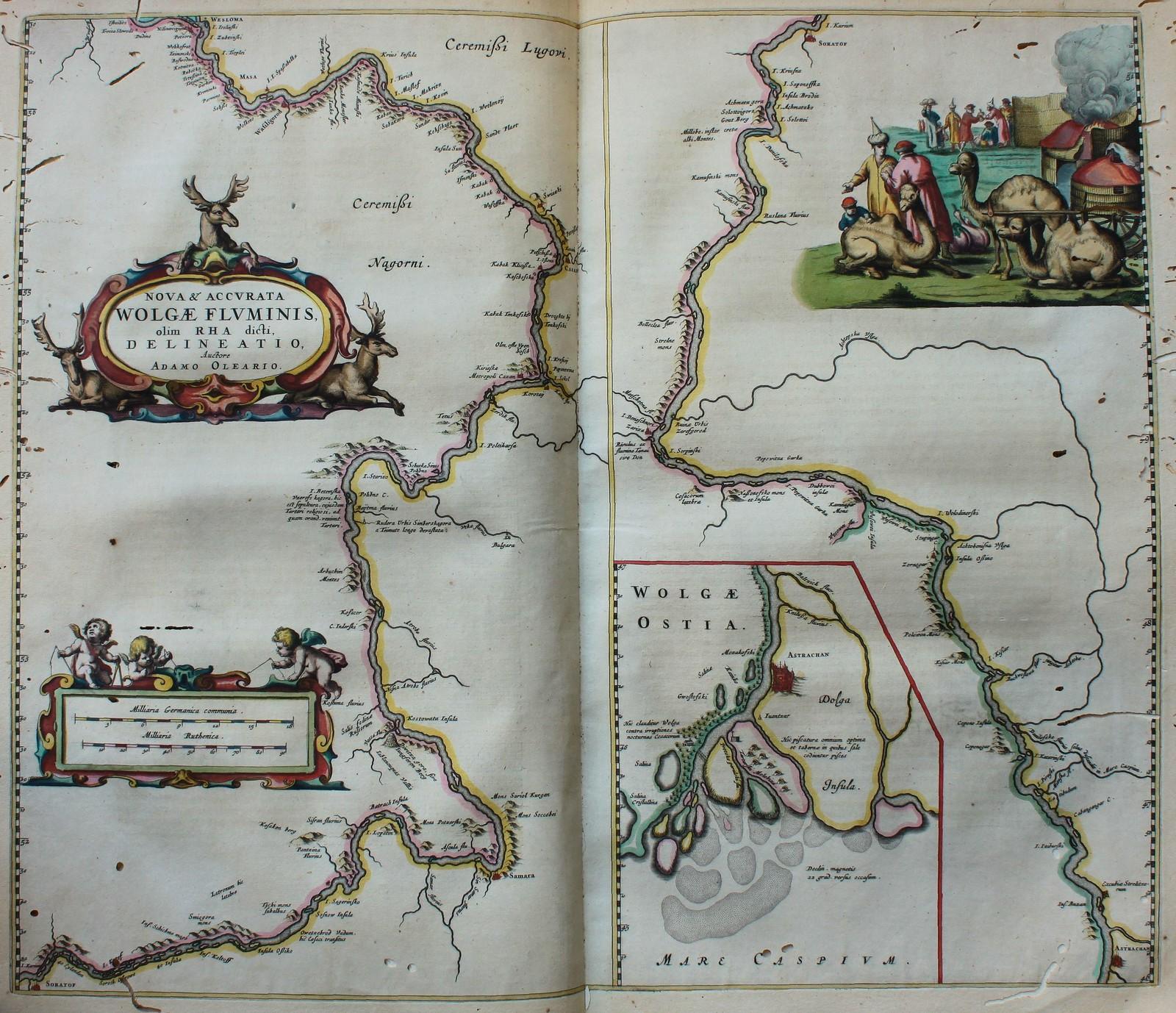 1647. Карта реки Волги