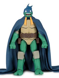 DC Collectibles《蝙蝠俠大戰忍者龜》蝙蝠俠裝扮的米開朗基羅 TMNT Michelangelo as Batman 6吋可動人偶【2019 SDCC 限定】