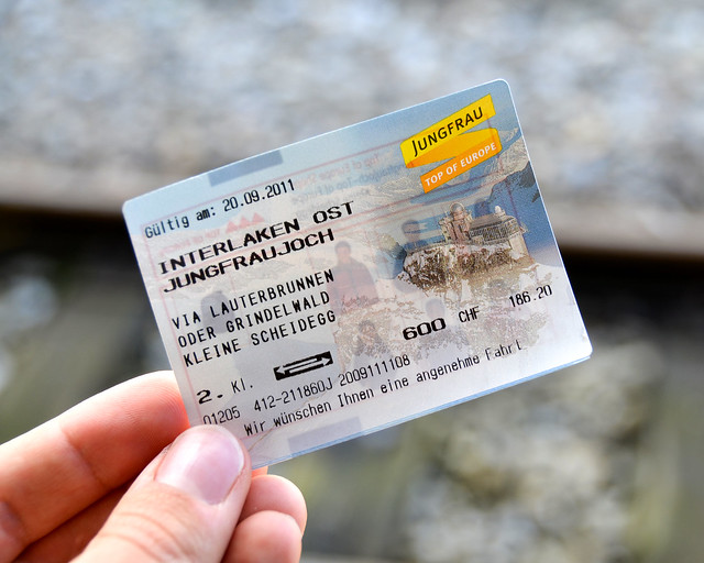 Ticket para subir al Jungfraujoch desde Interlaken