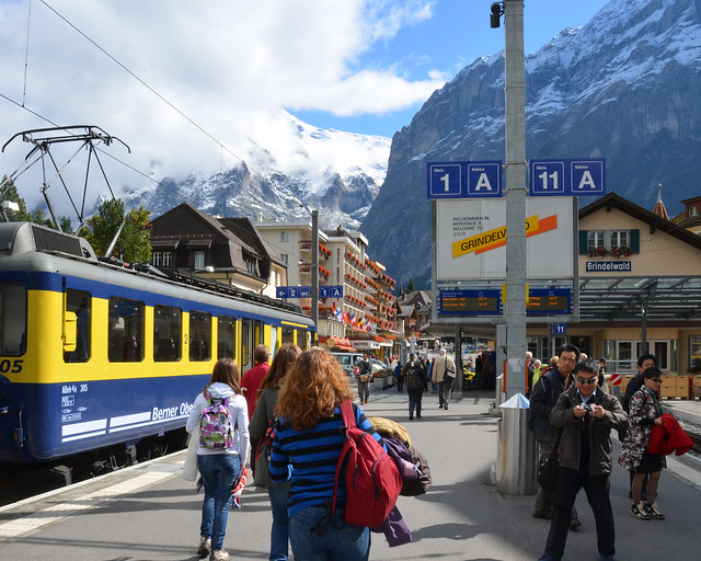 Estación de trenes de Grindelwald en Suiza