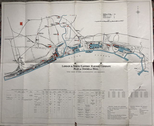London & North Eastern Railway Company plan of docks at Hull, c1925