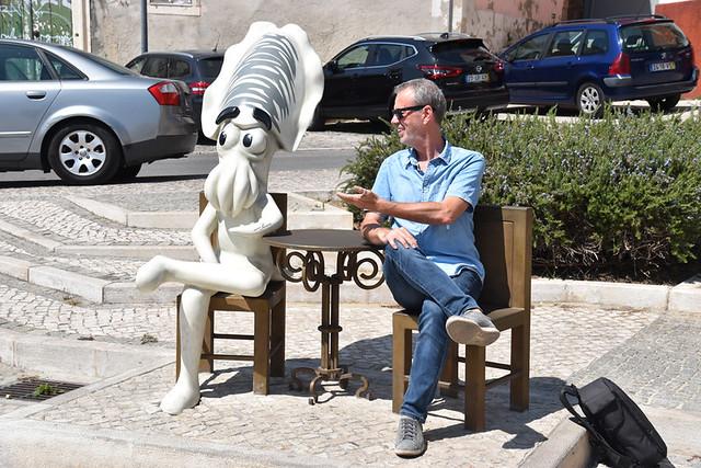 Fernando Pessoa choco frito, Setubal, Portugal
