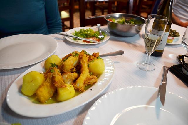 Our firsy choco frito, O Ramila, Setubal, Portugal